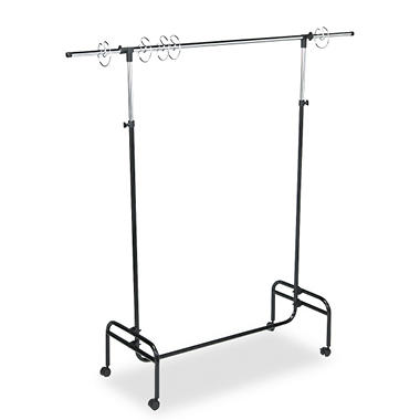 "Carson-Dellosa Adjustable Mobile Chart Stand, 48"" to 75"" High, Steel, Black"