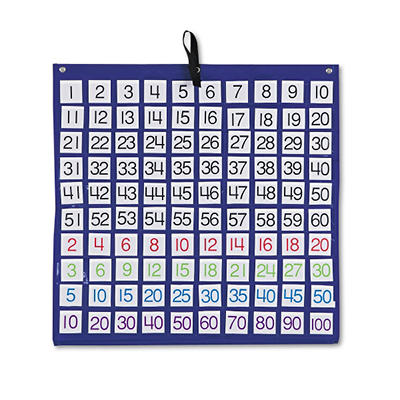 Hundreds Pocket Chart with 100 Number Cards, 24x24