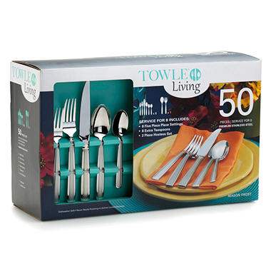 Towle Living 50 Piece Flatware Set - Mason