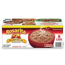 Rosarita Traditional Refried Beans (16 oz. cans, 8 pk.)