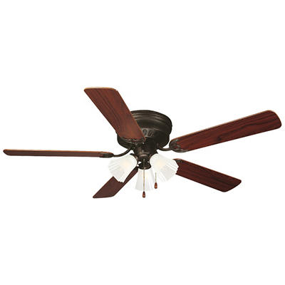 "Millbridge by Design House 52"" Oil Rubbed Bronze 5 Blade Ceiling Fan with Light Kit"