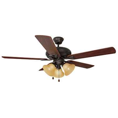"Design House 3-Light 52"" Ceiling Fan Bristol Collection Oil Rubbed Bronze"