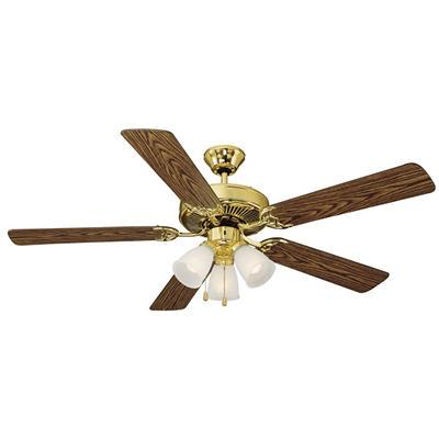 "Design House Millbridge Polished Brass 52"" Indoor Ceiling Fan"