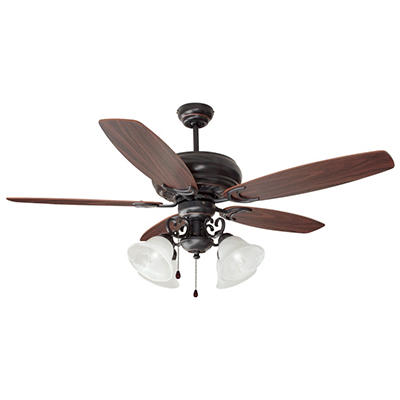"Design House 4-Light 52"" Ceiling Fan Drake Collection Oil Rubbed Bronze"