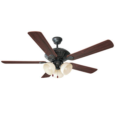 "Design House 3-Light 52"" Ceiling Fan Trevie Collection Oil Rubbed Bronze"