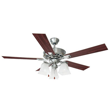 "Design House 52"" Ceiling Fan Torino Collection Satin Nickel"