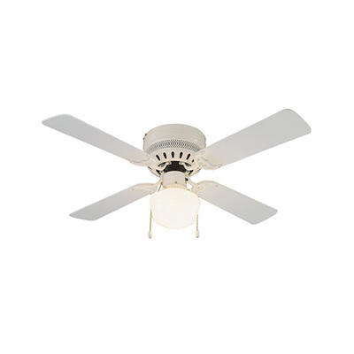 "Millbridge by Design House 42"" White 4 Blade Ceiling Fan with Light Kit"