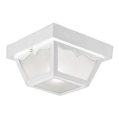 White Outdoor Flush Mount Ceiling Light by Design House