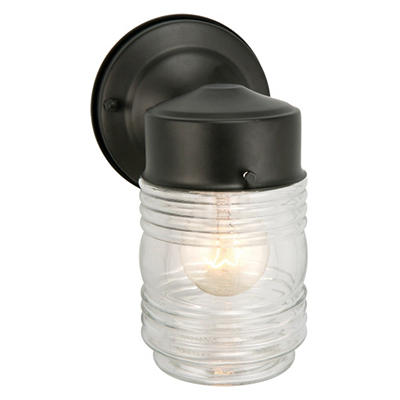 Jelly Jar by Design House Black Outdoor Downlight