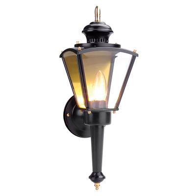 Hancock by Design House Black Outdoor Uplight