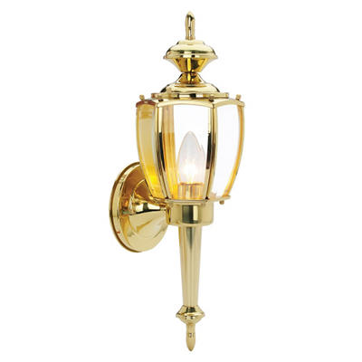 Jackson by Design House Polished Brass Outdoor Uplight