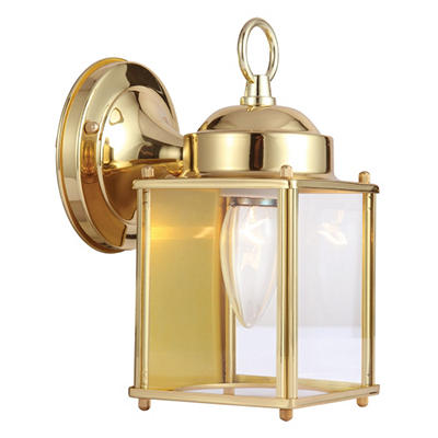 Coach by Design House Polished Brass Outdoor Downlight