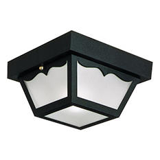 Black Outdoor Flush Mount Ceiling Light by Design House