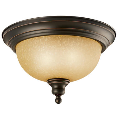 Design House 2-Light Ceiling Mount Bristol Collection Oil Rubbed Bronze