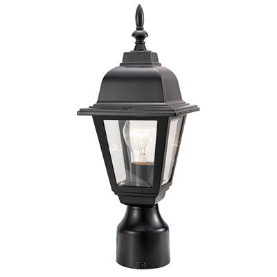 Maple Street by Design House Black Outdoor Post Light