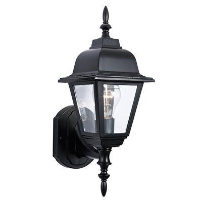 Maple Street by Design House Black Outdoor Uplight