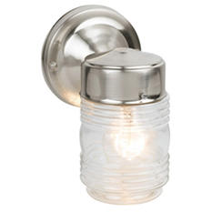 Jelly Jar by Design House Satin Nickel Outdoor Downlight
