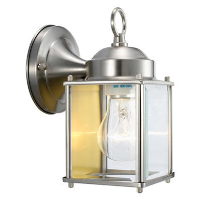 Coach by Design House Satin Nickel Outdoor Downlight