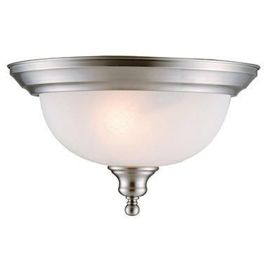 Design House 2-Light Ceiling Mount Bristol Collection Satin Nickel