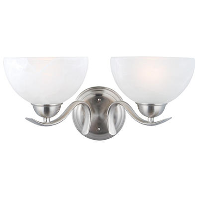 Design House 2-Light Wall Mount Trevie Collection Satin Nickel