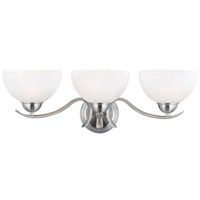Design House 3-Light Vanity Light Trevie Collection Satin Nickel