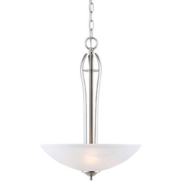 Design House 3-Light Pendant Trevie Collection Satin Nickel