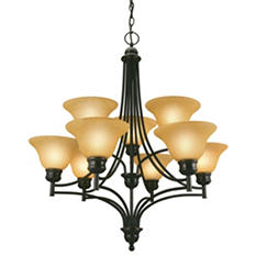 Bristol by Design House Oil Rubbed Bronze Chandelier