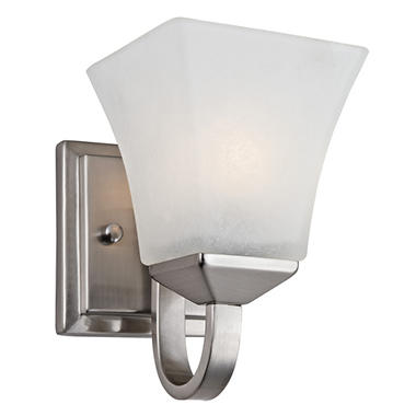 Design House 1-Light Wall Mount Torino Collection Satin Nickel