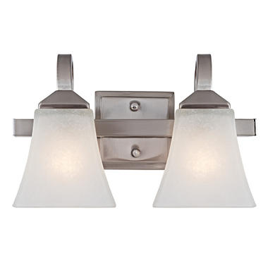 Design House 2-Light Wall Mount Torino Collection Satin Nickel