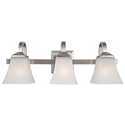 Design House 3-Light Vanity Light Torino Collection Satin Nickel