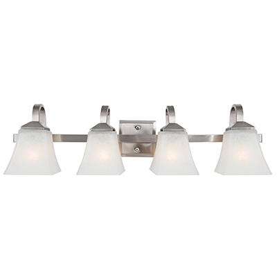 Design House 4-Light Vanity Light Torino Collection Satin Nickel