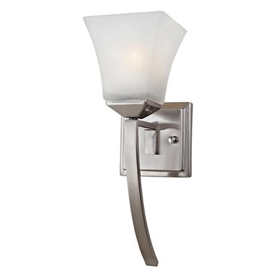 Design House 1-Light Wall Mount Extended Torino Collection Satin Nickel