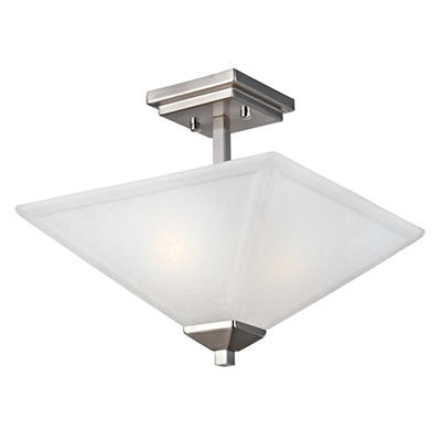 Design House 2-Light Semi-Flush Ceiling Mount Torino Collection Satin Nickel