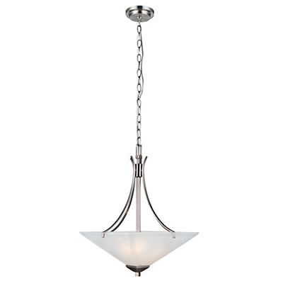 Design House 2-Light Pendant Torino Collection Satin Nickel