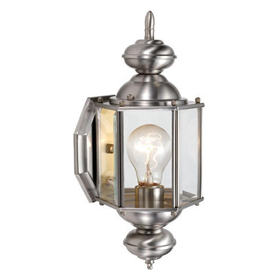 Augusta by Design House Satin Nickel Outdoor Uplight