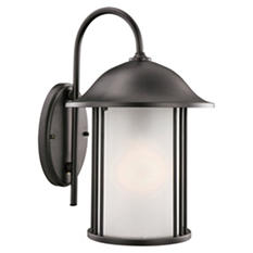 Hannover by Design House Black Outdoor Downlight