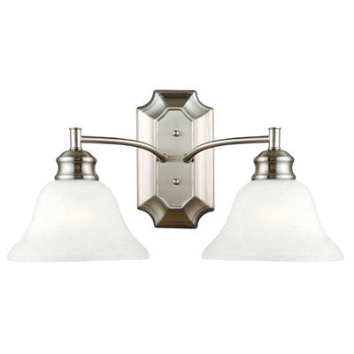 Bristol by Design House Satin Nickel Wall Light