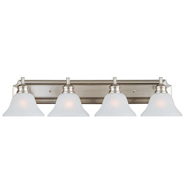 Design House 4-Light Vanity Light Bristol Collection Satin Nickel