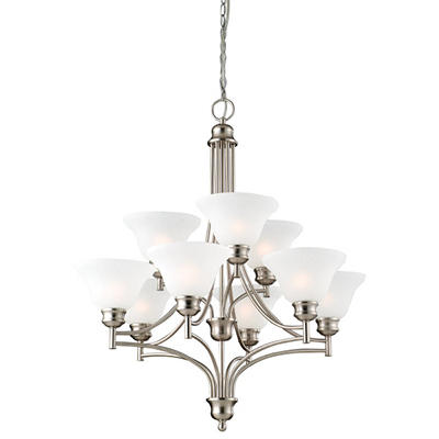 Bristol by Design House Satin Nickel Chandelier