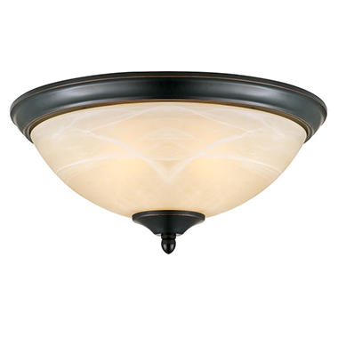Design House 2-Light Ceiling Mount Trevie Collection Oil Rubbed Bronze