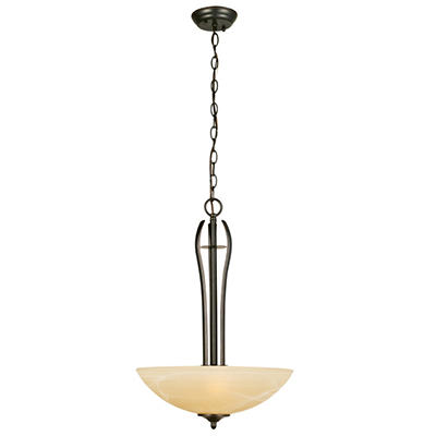 Design House 3-Light Pendant Trevie Collection Oil Rubbed Bronze