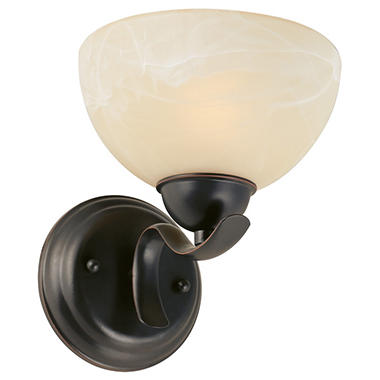 Design House 1-Light Wall Mount Trevie Collection Oil Rubbed Bronze