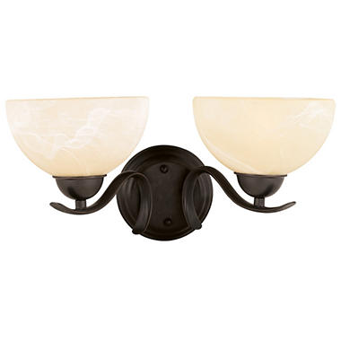 Design House 2-Light Wall Mount Trevie Collection Oil Rubbed Bronze