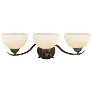 Design House 3-Light Vanity Light Trevie Collection Oil Rubbed Bronze