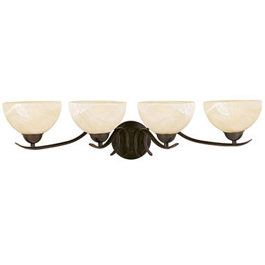 Design House 4-Light Vanity Light Trevie Collection Oil Rubbed Bronze