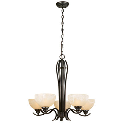 Design House 5-Light Chandelier Trevie Collection Oil Rubbed Bronze
