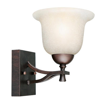 Ironwood by Design House Brushed Bronze Wall Light