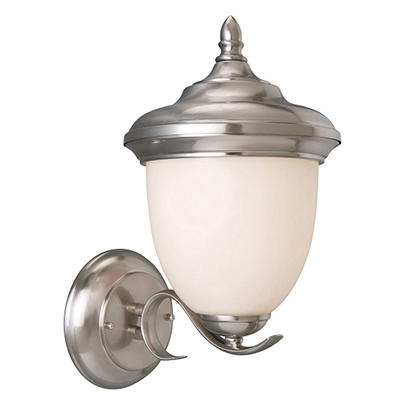 Trevie by Design House Satin Nickel Outdoor Uplight