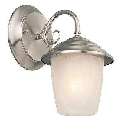 Millbridge by Design House Satin Nickel Outdoor Downlight