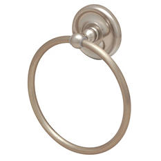 Hardware House Maxim Satin Nickel Towel Ring